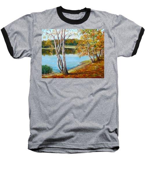 Baseball T-Shirt featuring the painting Autumn by Nina Mitkova