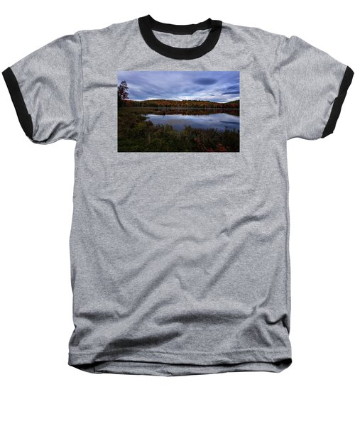 Autumn On North Pond Road Baseball T-Shirt by Tom Singleton