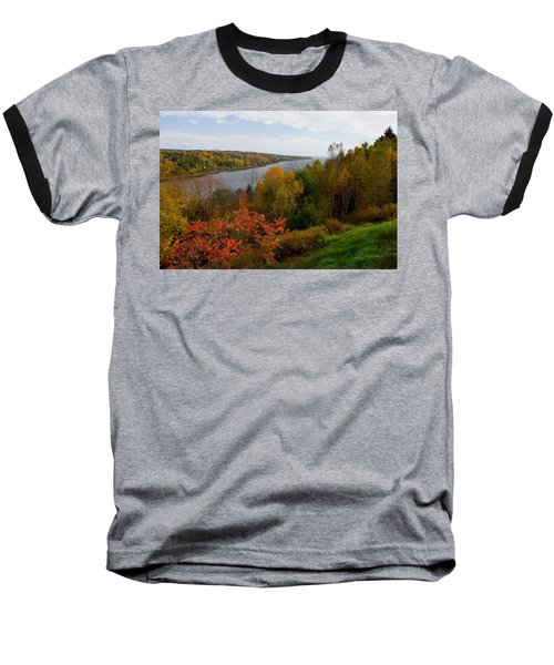 Autumn On The Penobscot Baseball T-Shirt by Brent L Ander