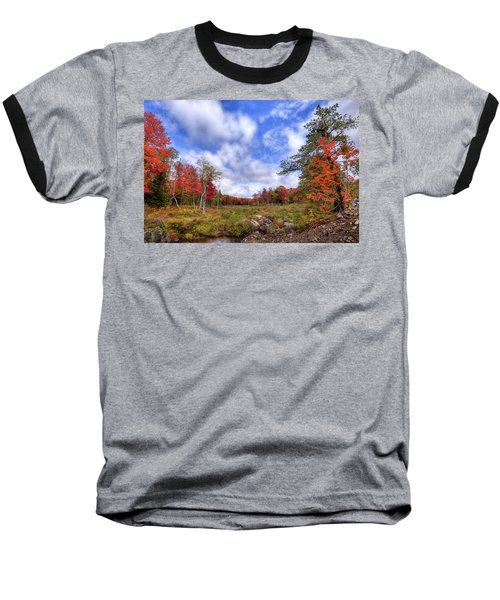 Baseball T-Shirt featuring the photograph Autumn On The Stream by David Patterson