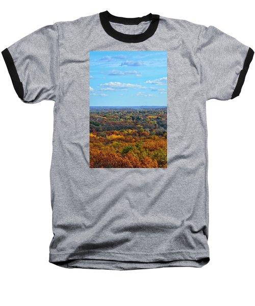 Autumn Overlook Baseball T-Shirt by Nikki McInnes