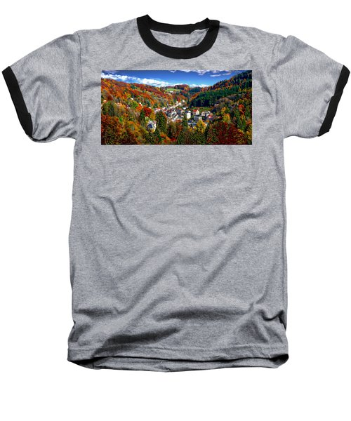 Autumn Panorama Baseball T-Shirt