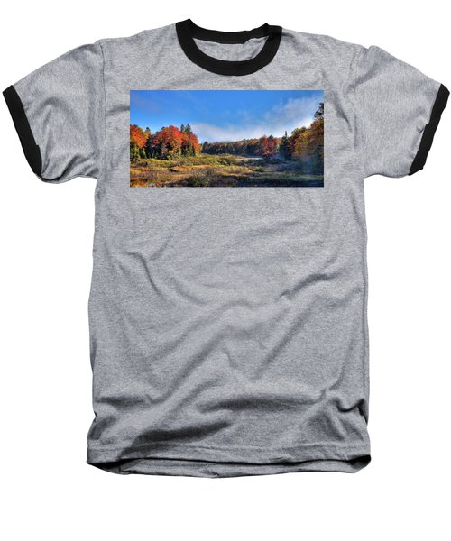 Baseball T-Shirt featuring the photograph Autumn Panorama At The Green Bridge by David Patterson