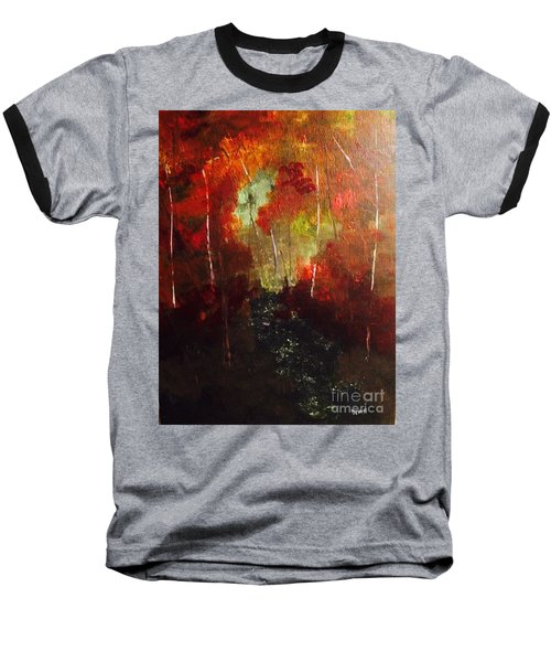 Baseball T-Shirt featuring the painting Sunset Trail by Denise Tomasura