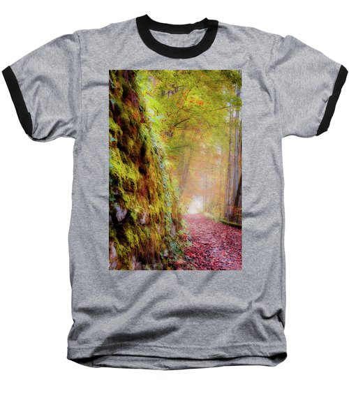 Autumn Path Baseball T-Shirt