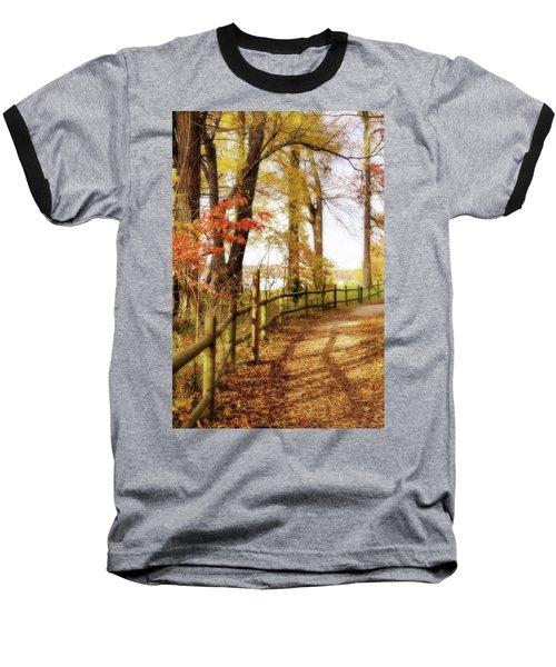Autumn Pathway Baseball T-Shirt