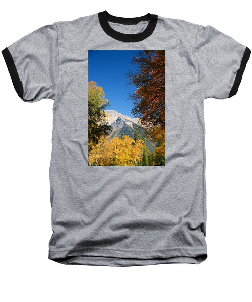 Autumn Peaks Baseball T-Shirt by Lawrence Boothby
