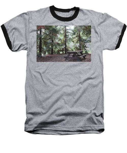 Autumn Picnic In The Woods  Baseball T-Shirt