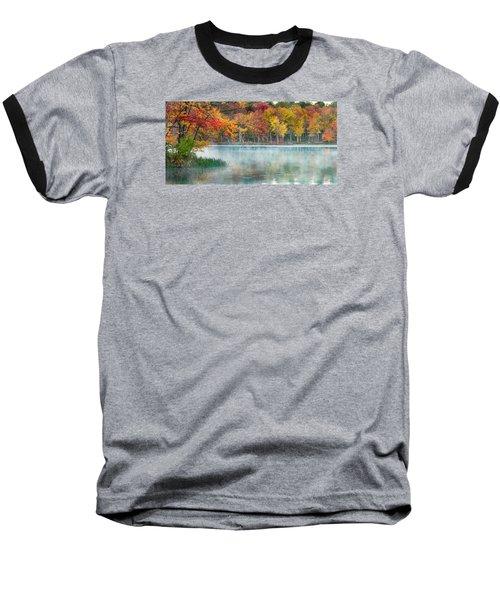 Autumn Pond Baseball T-Shirt by Brian Caldwell