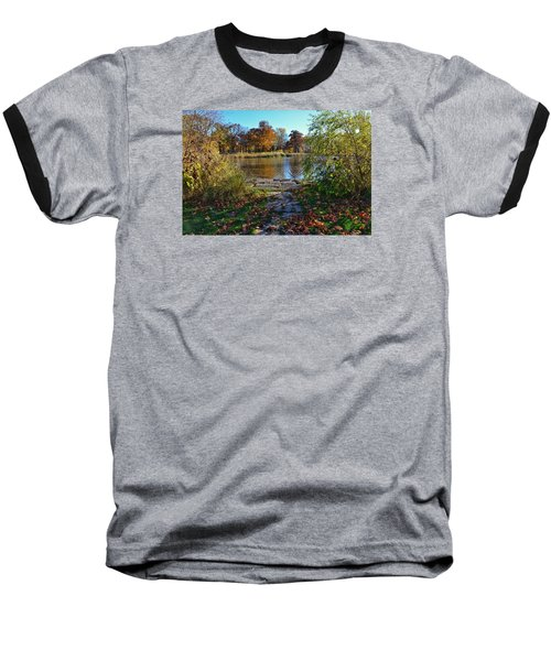 Baseball T-Shirt featuring the photograph Autumn Pond by Nikki McInnes