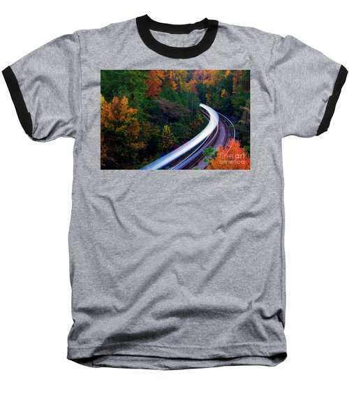 Autumn Rails Baseball T-Shirt