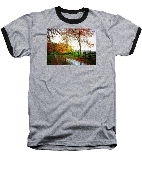 Autumn Rains Baseball T-Shirt
