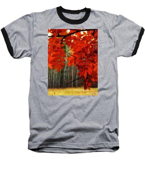 Autumn Red Baseball T-Shirt