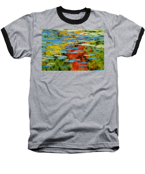 Baseball T-Shirt featuring the photograph Autumn Lily Pads by Diana Angstadt