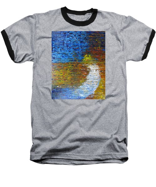 Baseball T-Shirt featuring the painting Autumn Reflection by Jacqueline Athmann