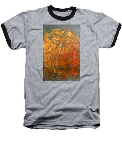 Baseball T-Shirt featuring the painting Autumn Reflections 1 by Jane See
