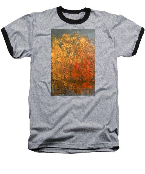 Autumn Reflections 1 Baseball T-Shirt by Jane See