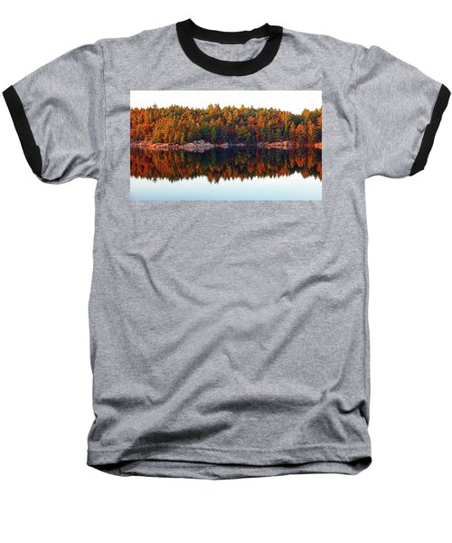 Autumn Reflections Baseball T-Shirt by Debbie Oppermann