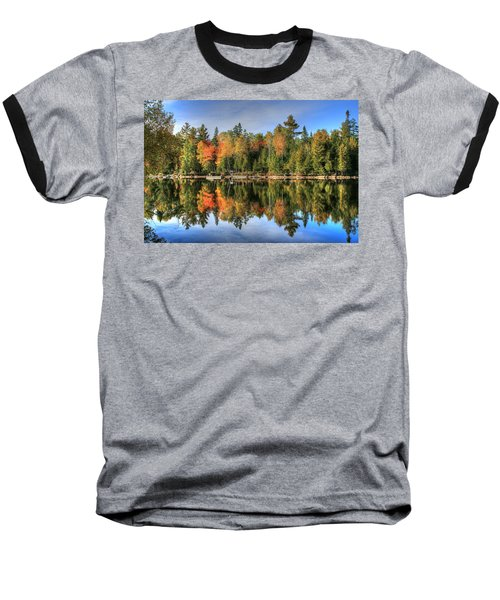 Baseball T-Shirt featuring the photograph Autumn Reflections Of Maine by Shelley Neff
