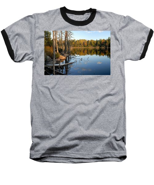 Autumn Reflections On Little Bass Lake Baseball T-Shirt
