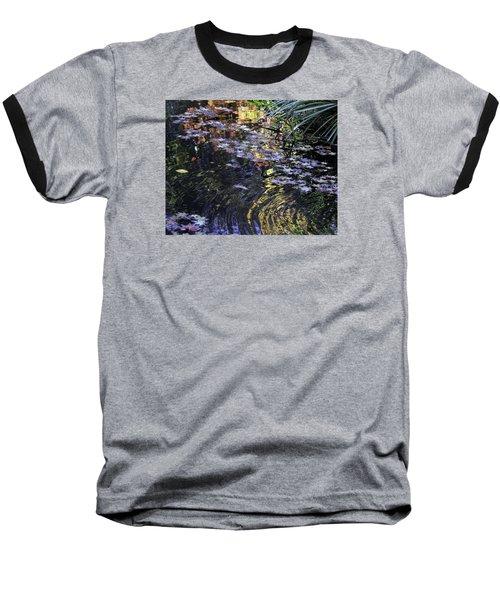 Autumn Ripples Baseball T-Shirt by Linda Geiger