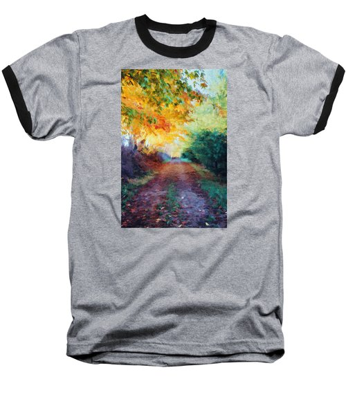 Baseball T-Shirt featuring the photograph Autumn Road by Diane Alexander