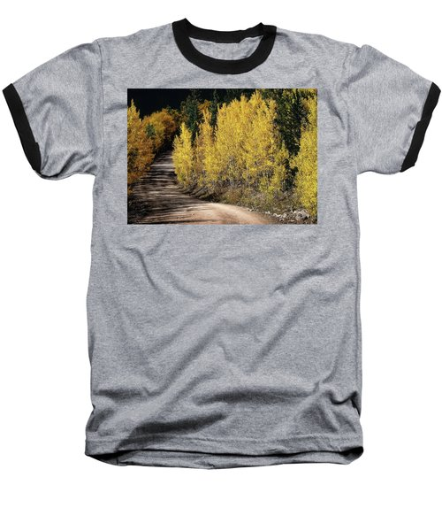 Baseball T-Shirt featuring the photograph Autumn Road by Jim Hill