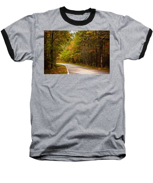 Baseball T-Shirt featuring the photograph Autumn Road by Lana Trussell