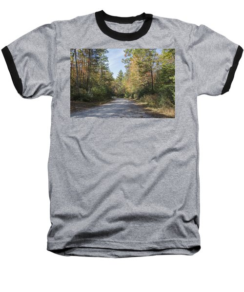 Autumn Road Baseball T-Shirt by Ricky Dean