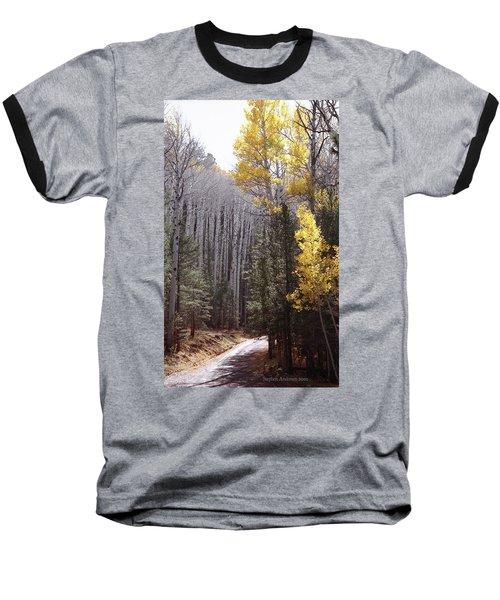Autumn Road Baseball T-Shirt