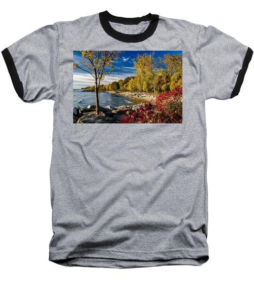 Autumn Scene Lake Ontario Canada Baseball T-Shirt