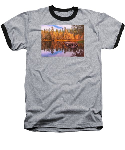 Baseball T-Shirt featuring the photograph Autumn Season  by Rose-Maries Pictures