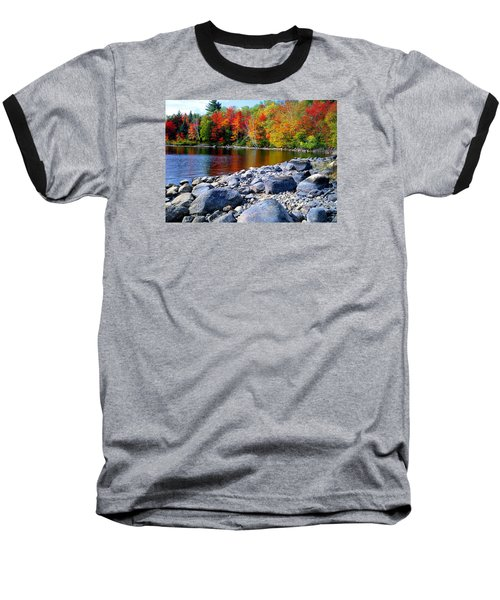 Autumn Shoreline Baseball T-Shirt