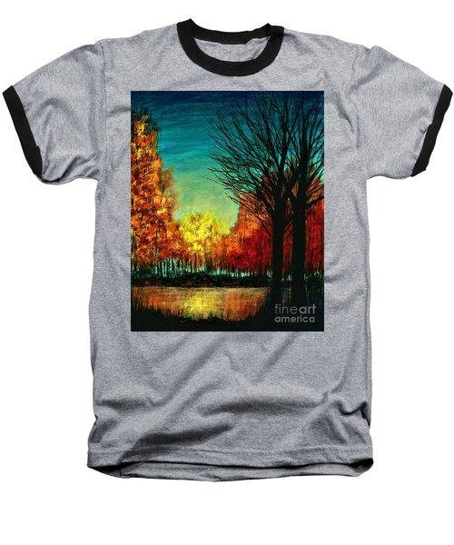 Autumn Silhouette  Baseball T-Shirt