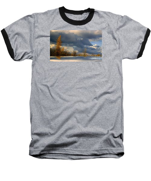 Autumn Skies  Baseball T-Shirt by Elfriede Fulda