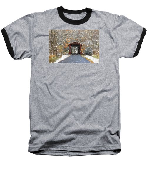 Autumn Snow Baseball T-Shirt