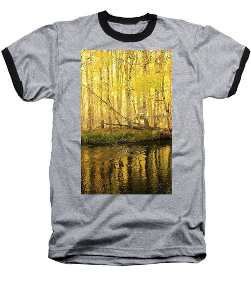 Autumn Soft Light In Stream Baseball T-Shirt
