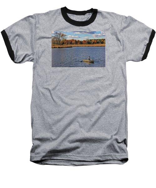 Autumn Solitude Baseball T-Shirt by Pat Cook