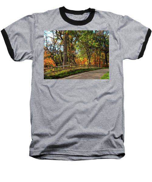 Autumn Song Baseball T-Shirt by Cedric Hampton