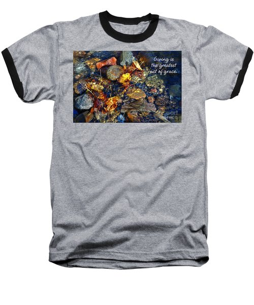Baseball T-Shirt featuring the drawing Autumn Splash Grace by Diane E Berry
