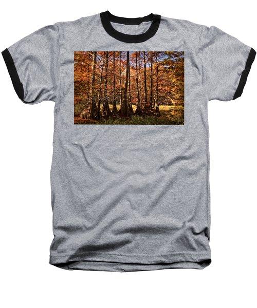Baseball T-Shirt featuring the photograph Autumn Splendor At Lake Murray by Tamyra Ayles