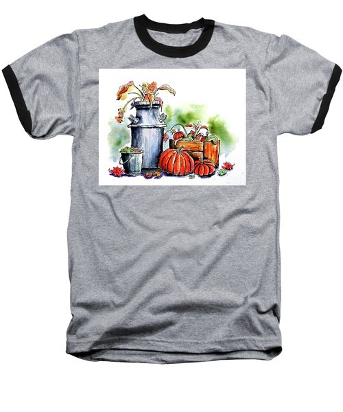 Baseball T-Shirt featuring the painting Autumn Still Life 1 by Terry Banderas
