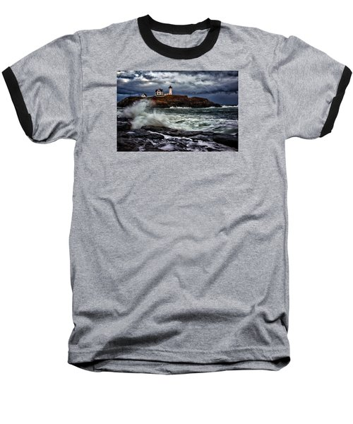 Autumn Storm At Cape Neddick Baseball T-Shirt by Rick Berk