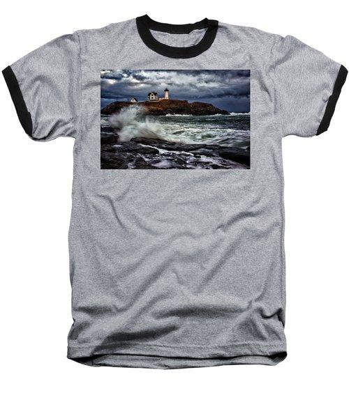Autumn Storm At Cape Neddick Baseball T-Shirt