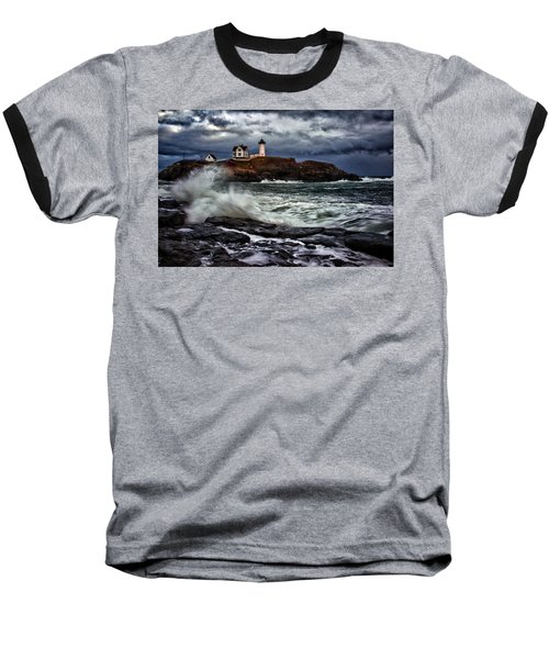Autumn Storm At Cape Neddick Baseball T-Shirt