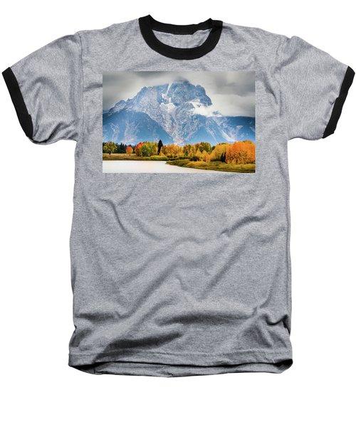 Autumn Storm Over Mount Moran Baseball T-Shirt