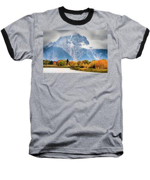 Autumn Storm Over Mount Moran Baseball T-Shirt