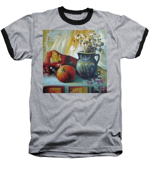 Baseball T-Shirt featuring the painting Autumn Story by Elena Oleniuc
