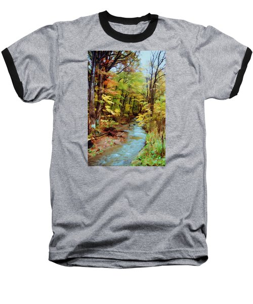 Autumn Stream Baseball T-Shirt