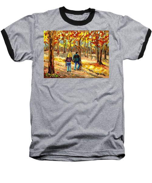 Autumn  Stroll On Mount Royal Baseball T-Shirt